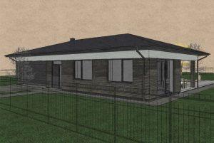 Sp Vienbucio gyvenamo namo projektas (4)